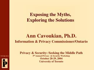 Exposing the Myths,  Exploring the Solutions