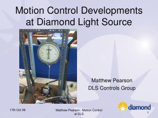 Motion Control Developments at Diamond Light Source