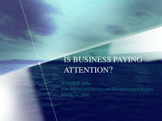 IS BUSINESS PAYING ATTENTION ?