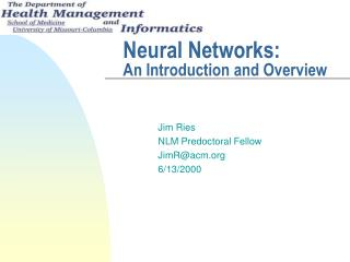 Neural Networks:  An Introduction and Overview