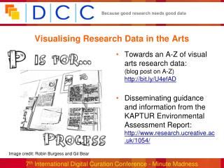 Visualising Research Data in the Arts