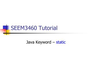 SEEM3460 Tutorial