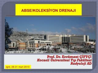 Prof. Dr. Ercüment ÇİFTÇİ Kocaeli Üniversitesi Tıp Fakültesi Radyoloji AD