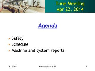 Time Meeting Apr  22 ,  2014