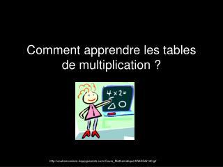 Comment  apprendre les tables de multiplication ?