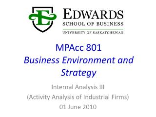 MPAcc 801 Business Environment and Strategy