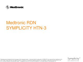 Medtronic RDN SYMPLICITY HTN-3