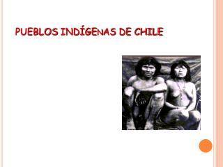 PUEBLOS  IND�GEnAS  DE CHILE