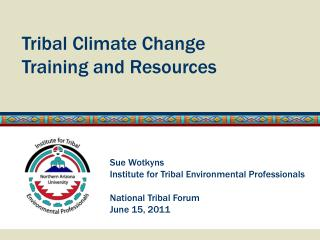 Tribal Climate Change  Training and Resources