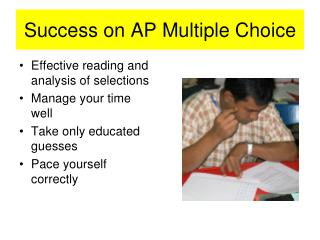 Success on AP Multiple Choice