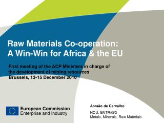 Raw Materials Co-operation:  A Win-Win for Africa & the EU
