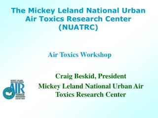 Air Toxics Workshop
