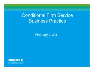Conditional Firm Service Business Practice