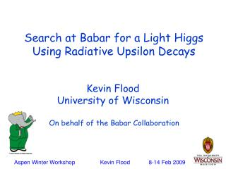 Search at Babar for a Light Higgs  Using Radiative Upsilon Decays