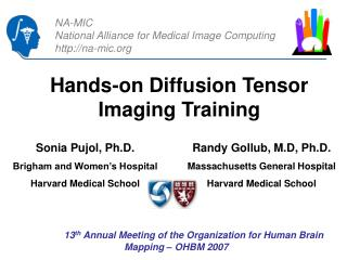 Hands-on Diffusion Tensor Imaging Training