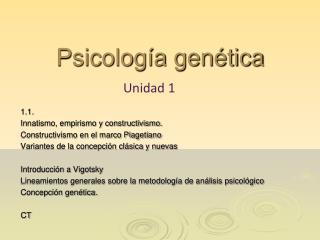 Psicolog a gen tica