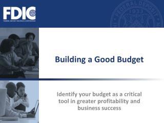 Building a Good Budget