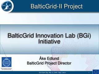 BalticGrid Innovation Lab (BGi) Initiative