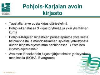 Pohjois-Karjalan avoin kirjasto
