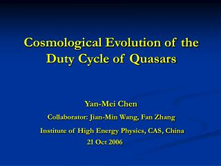 Cosmological Evolution of the  Duty Cycle of Quasars
