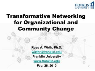 Transformative Networking for Organizational and Community Change