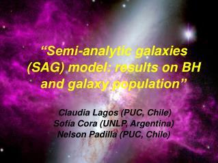 Claudia Lagos U. 8 Abril 2008 Seminario de Astrofísica