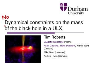 Dynamical constraints on the mass of the black hole in a ULX