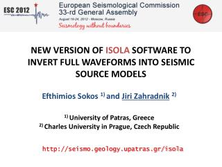 NEW VERSION OF  ISOLA  SOFTWARE TO INVERT FULL WAVEFORMS INTO SEISMIC SOURCE MODELS