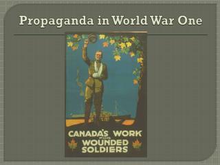 Propaganda in World War One