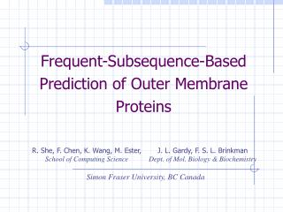 Frequent-Subsequence-Based Prediction of Outer Membrane Proteins