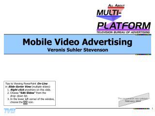 Mobile Video Advertising Veronis Suhler Stevenson