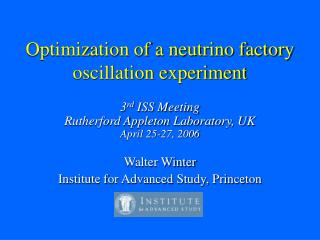 Optimization of a neutrino factory oscillation experiment