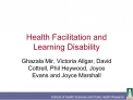 Health Facilitation and Learning Disability