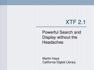 XTF 2.1