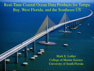Real-Time Coastal Ocean Data Products for Tampa Bay, West Florida, and the Southeast US