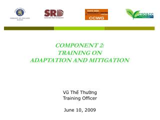 COMPONENT 2:  TRAINING ON  ADAPTATION AND MITIGATION