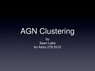 AGN Clustering