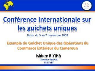 Conférence Internationale sur les guichets uniques