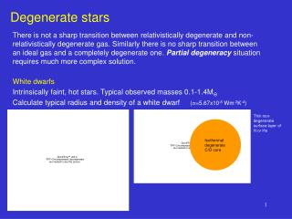 Degenerate stars