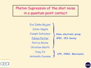 Photon Supression of the shot noise in a quantum point contact