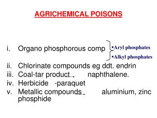 AGRICHEMICAL POISONS