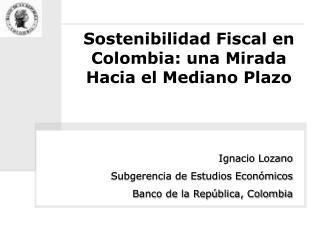 Sostenibilidad Fiscal en Colombia: una Mirada Hacia el Mediano Plazo
