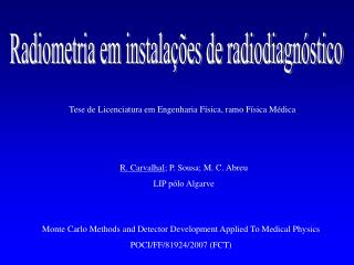Radiometria em instala��es de radiodiagn�stico