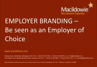 EMPLOYER BRANDING –  Be seen as an Employer of Choice