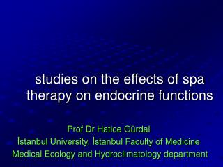 studies on the effects of spa therapy on endocrine functions