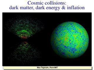 Cosmic collisions:  dark matter, dark energy & inflation