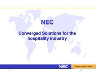NEC Converged Solutions for the hospitality industry