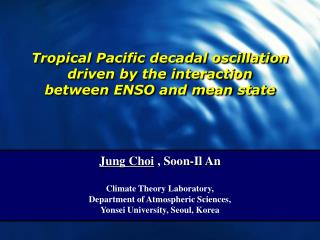 Tropical Pacific decadal oscillation  driven by the interaction  between ENSO and mean state