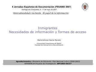 Inmigrantes Necesidades de informaci n y formas de acceso