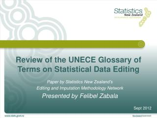 Review of the UNECE Glossary of Terms on Statistical Data Editing